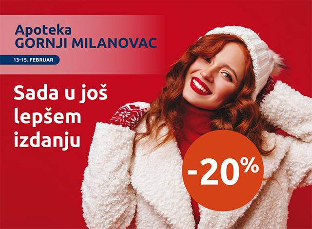 APOTEKA GORNJI MILANOVAC -20%