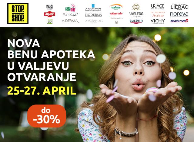 BENU APOTEKA VALJEVO OTVARANJE - do -30%