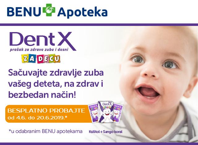 Dent X - Sačuvajte zdravlje zuba vašeg deteta, na zdrav i bezbedan način!