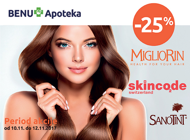Migliorin, Skincode, Sanotint - popust 25%