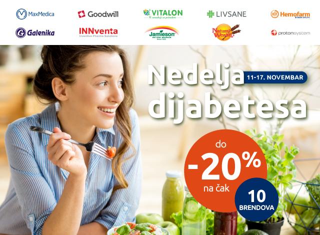 NEDELJA DIJABETESA -20%