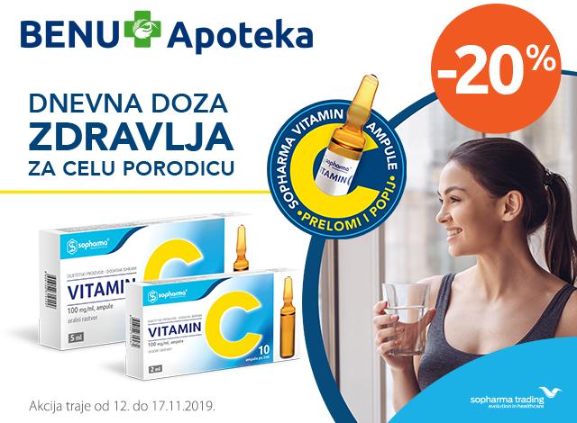 Sopharma Vitamin C ampule -20%