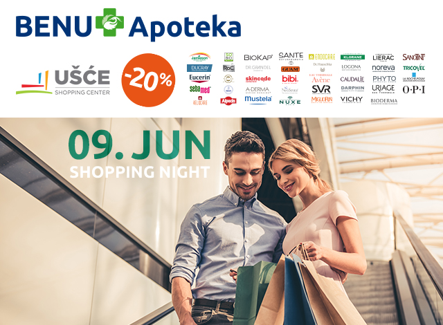 UŠĆE SHOPPING NIGHT -20%