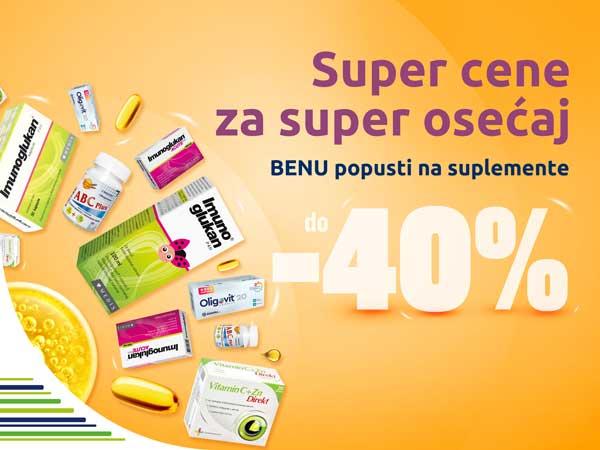 Veliki popust na vitamine i suplemente, do 40%!